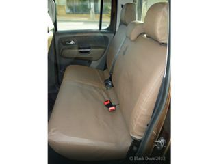 SEAT COVERS CANVAS - D/CAB - REAR BENCH