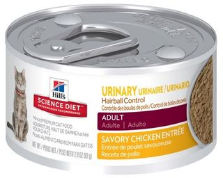 SCIENCE DIET FELINE URINARY HBALL 82GX24