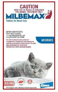 MILBEMAX CAT ALLWORMER 0.5-2KG 2TABS