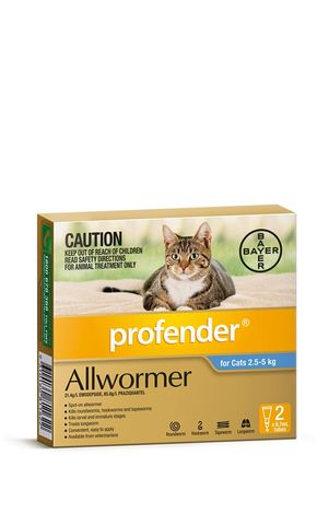 PROFENDER CAT MEDIUM 2.5-5KG 2S BLUE