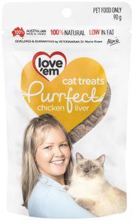 LOVE EM PURRFECT CHICKEN TREATS 90G