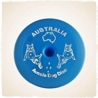 AUSSIE DOG DISC FLOPPY BLUE