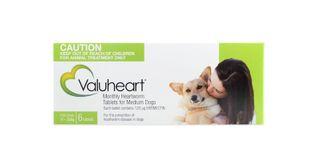 VALUHEART MEDIUM DOG GREEN 6TAB