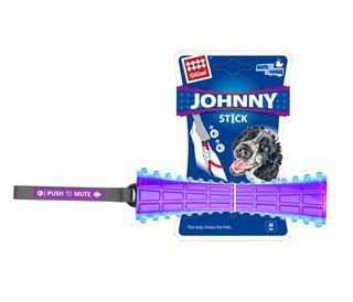 GIGWI JOHNNY STICK PUSH TO MUTE TRANS PURPLE BLUE