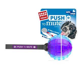 GIGWI REGULAR BALL PUSH TO MUTE TRANS PURPLE BLUE