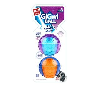 GIGWI BALL MEDIUM 2PACK
