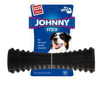 GIGWI JOHNY STICK EX DURABLE RUBBER BLK
