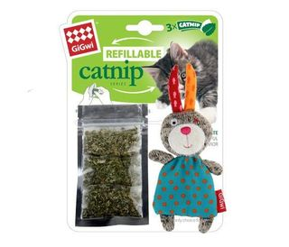 GIGWI REFILL C/NIP MULTI TEABAG RABBIT