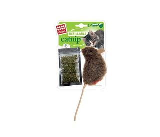 GIGWI REFILL C/NIP TEABAG MOUSE NATURAL