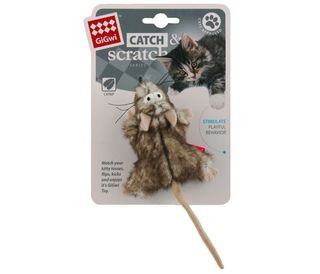 GIGWI CATCH SCRATCH MOUSE W/CATNIP