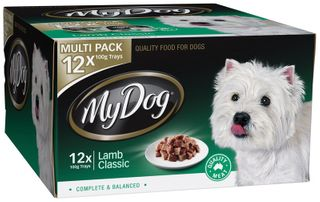 MY DOG LAMB CLASSIC MULTI PK 12X100G GRN