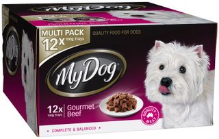 MY DOG GOURMET BEEF MULTI PK 12X100G RED