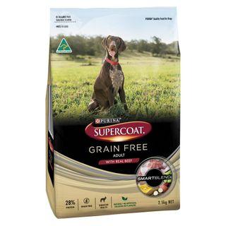 SUPERCOAT ADULT GRAIN FREE BEEF 2.5KG