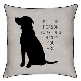 MOG AND BONE CUSHION BE PERSON DOG THINKS