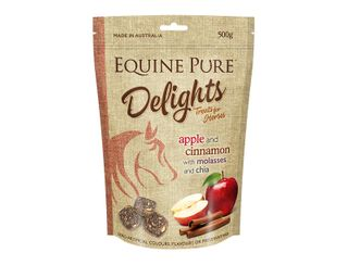 EQUINE PURE DELIGHTS APPLE CINNAMON MOLASSES CHIA 500G