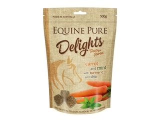 EQUINE PURE DELIGHTS CARROT MINT TURMERIC CHIA 500G