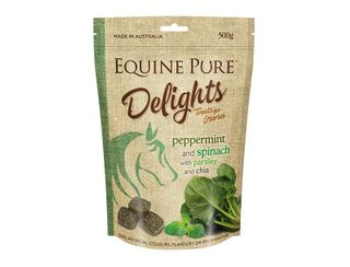 EQUINE PURE DELIGHTS PEPPERMINT SPINACH PARSLEY CHIA 500G