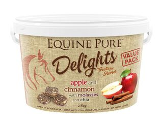 EQUINE PURE DELIGHTS APPLE CINNAMON MOLASSES CHIA 2.5KG