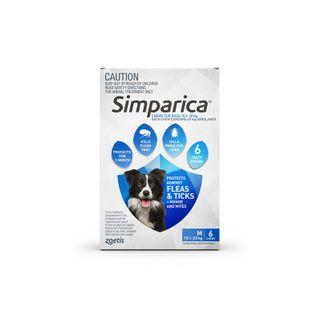 SIMPARICA 10.1-20KG 6PACK
