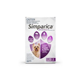 SIMPARICA 2.6-5KG 3PACK