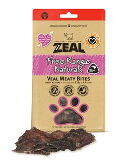 ZEAL FRN VEAL MEATY BITES 125G
