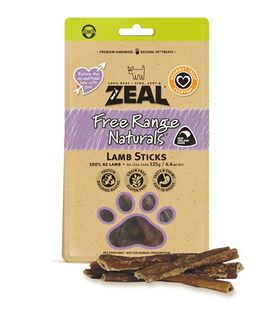ZEAL FREE RANGE NATURALS SHEEP STICKS 125G