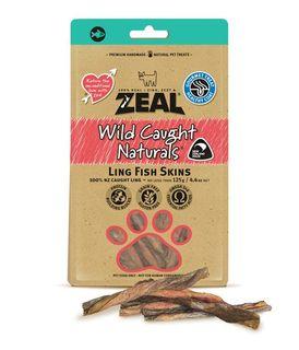 ZEAL FREE RANGE NATURALS LING FISH SKINS 125G