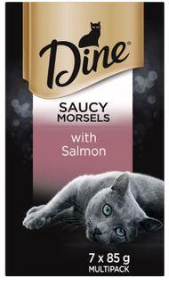 DINE SAUCY MORSELS W SALMON SVMS 7X85G