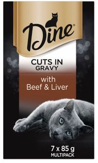 DINE WITH BEEF LIVER IN GRAVY SVMS 7X85G