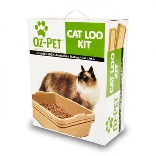 OZ PET CAT LOO KIT BEIGE