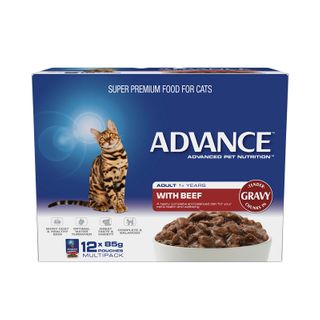 ADVANCE CAT BEEF GRAVY 12X85G