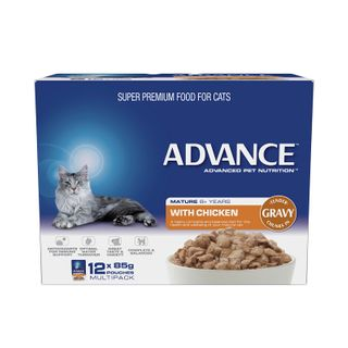 ADVANCE CAT MATURE CHICKEN GRAVY 12X85G