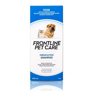 FRONTLINE PETCARE MEDICATED SHAMP 250ML