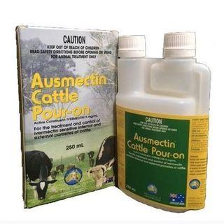 INTERNATIONAL ANIMAL HEALTH AUSMECTIN CATTLE POUR ON 250ML