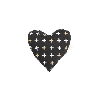 MOG AND BONE SOFT TOY HEART BLACK CROSS