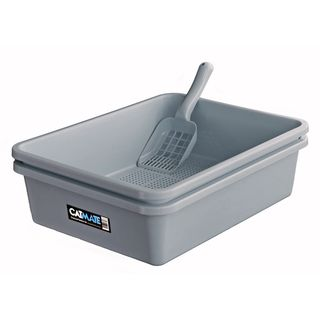 CATMATE SIEVE LITTER TRAY 3 PIECES CHARCOAL
