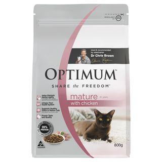 OPTIMUM CAT MATURE CHICKEN 800G