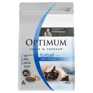 OPTIMUM CAT FURBALL CHICKEN 800G