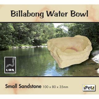 ULTIMATE REPTILE SUPPLIERS BILLABONG WATER BOWL SANDSTONE SMALL