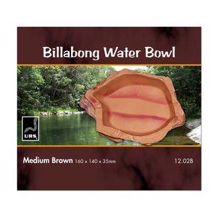 ULTIMATE REPTILE SUPPLIERS BILLABONG WATER BOWL BROWN MEDIUM