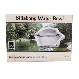 ULTIMATE REPTILE SUPPLIERS BILLABONG WATER BOWL SANDSTONE MEDIUM