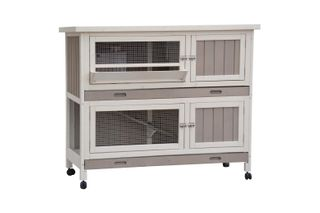 IPETZ DOUBLE STOREY HUTCH