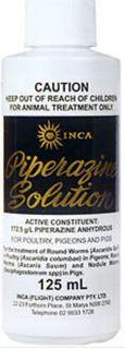 INCA PIPERAZINE SOLUTION P P & P 125ML