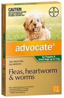 ADVOCATE DOG SMALL GREEN 0-4KG 1PACK