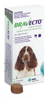 BRAVECTO MEDIUM DOG GREEN 10-20KG 1PACK