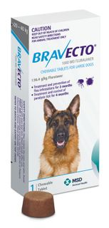 BRAVECTO LARGE DOG BLUE 20-40KG 1PACK