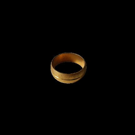 Brass Crox Olive Ring