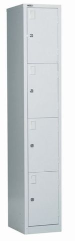 GO 4 tier single lockers W380mm