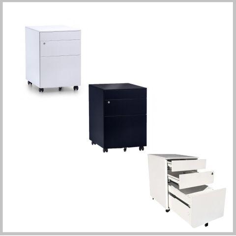 Itsu mobile pedestal 2small + 1file  H580*W390*D520