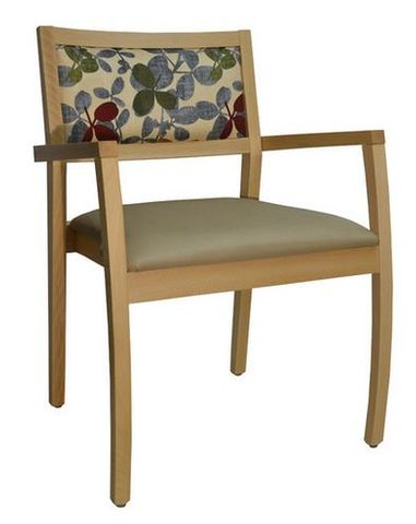 Grace Visitor Chair, Arms, 4leg timber frame F:9HC
